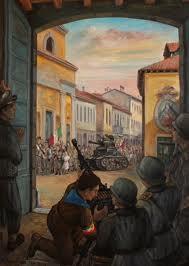 25 Aprile - La Liberazione a Cernusco in un quadro di Felicino Frigerio