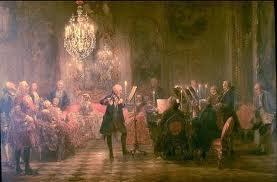 Musica a Sans Souci - dipinto di Adolf Menzel