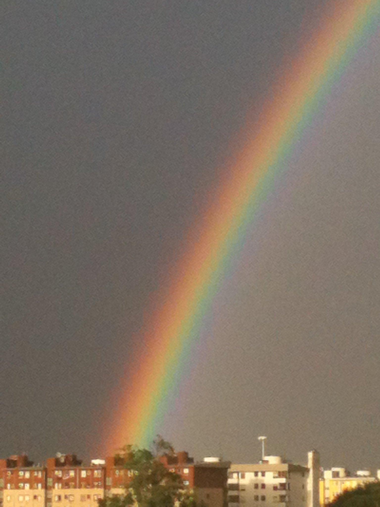 Arcobaleno a Milano, 31 agosto 2012