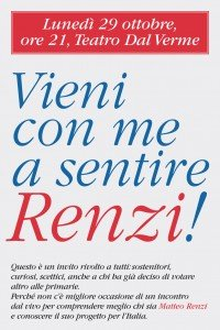 Vieni a sentire Renzi